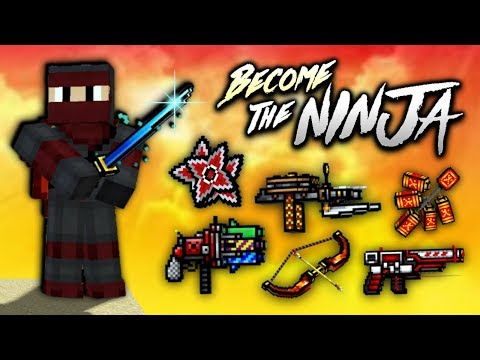 Pixel Gun 3D - Ninja Weapon Gameplay!