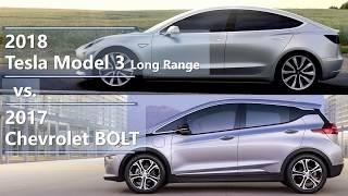 2018 tesla model 3 long range vs 2017 chevrolet bolt (technical comparison)