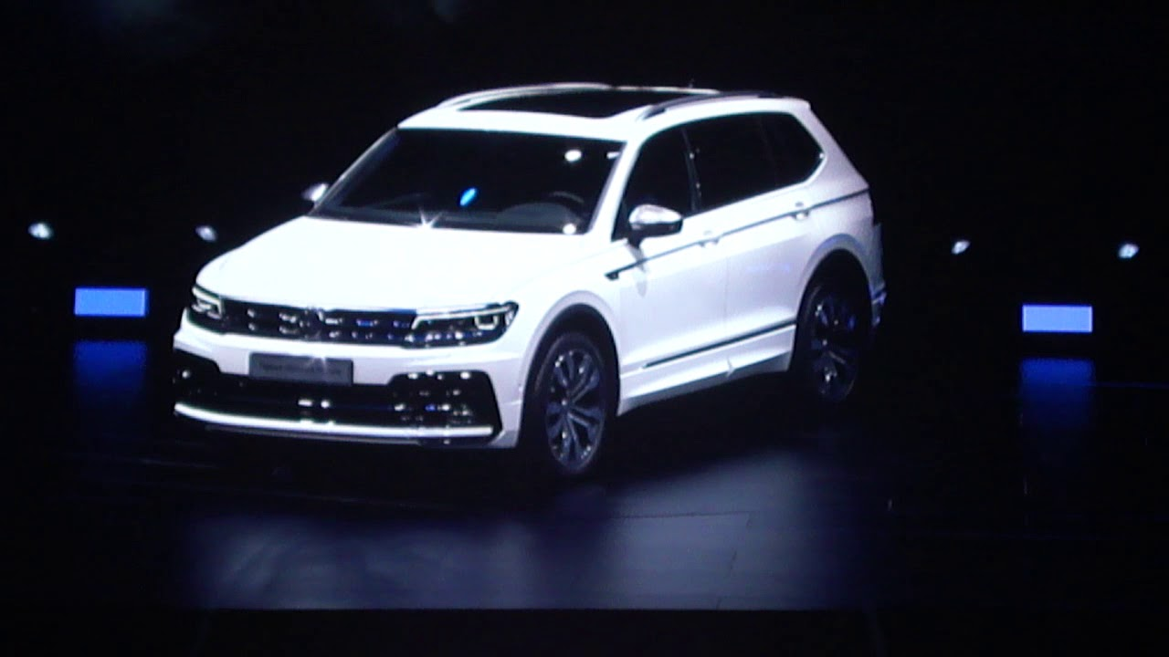 volkswagen new tiguan allspace r line oryx white metallic full option introduction youtube. Black Bedroom Furniture Sets. Home Design Ideas