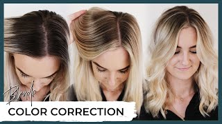 Blonde Hair Color Correction Before and After  How to fix highlighted hair including root shadow