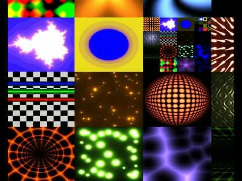 Multiple demo effects in a single GLSL fragment shader