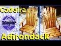✅ Cadeira Adirondack - Reciclagem de Paletes