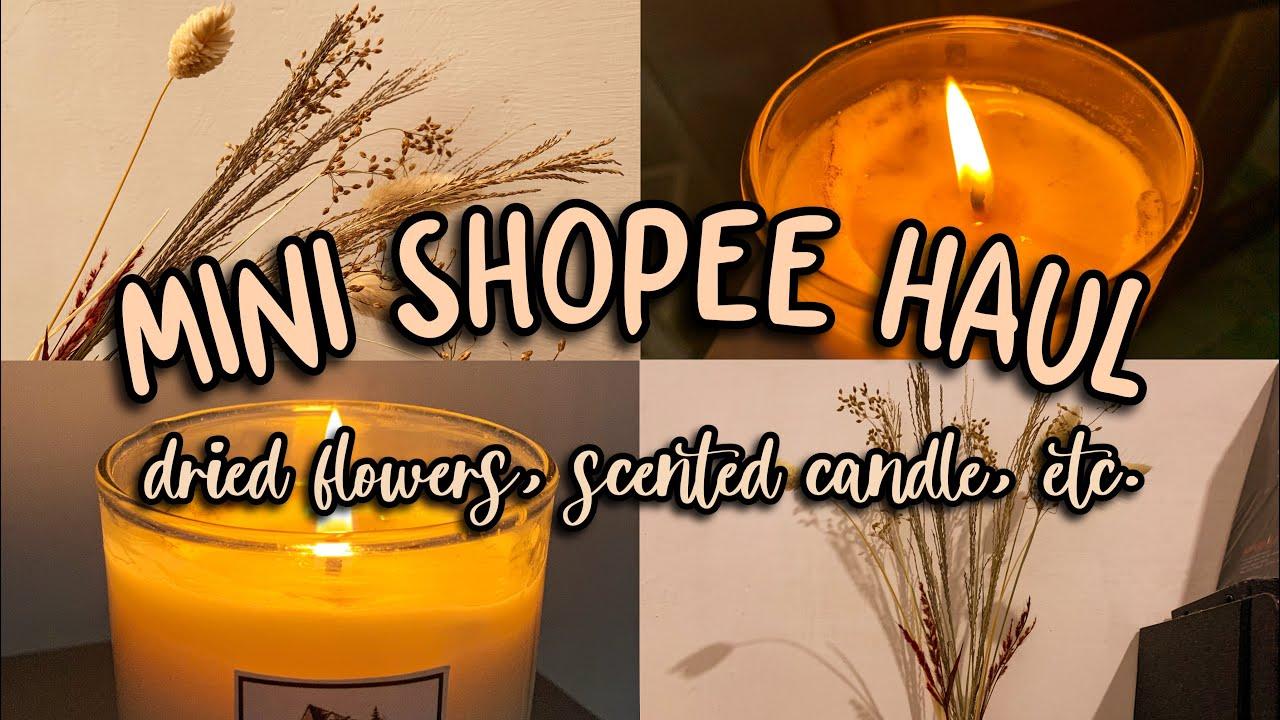 mini shopee haul; dried flowers, scented candle, etc. || indonesia🇮🇩