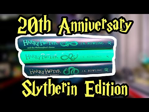 Unboxing The 20th Anniversary Slytherin Edition Harry Potter Books!!!