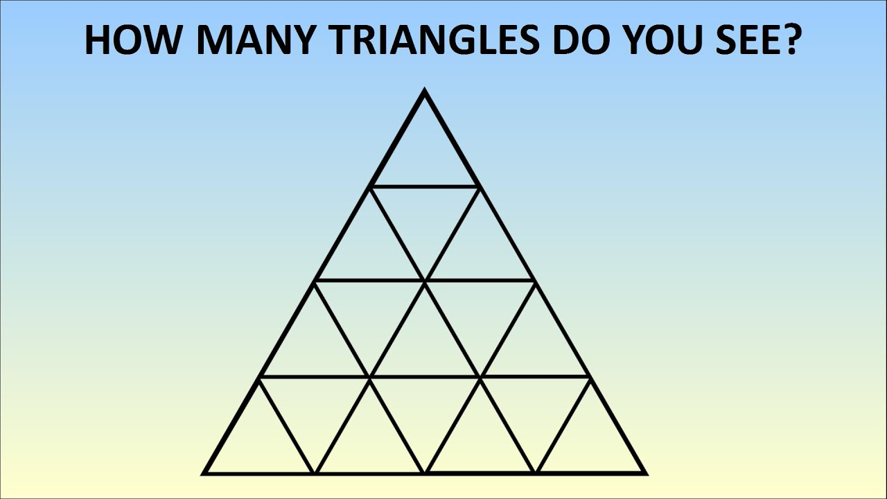 how many triangles are there learn the formula for any size youtube
