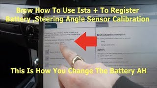 BMW ISTA D How to register battery and calibrate steering angle sensor and bleed brakes with ISTA D