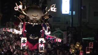 唐津くんち、宵山、九番武田信玄の兜、2011.