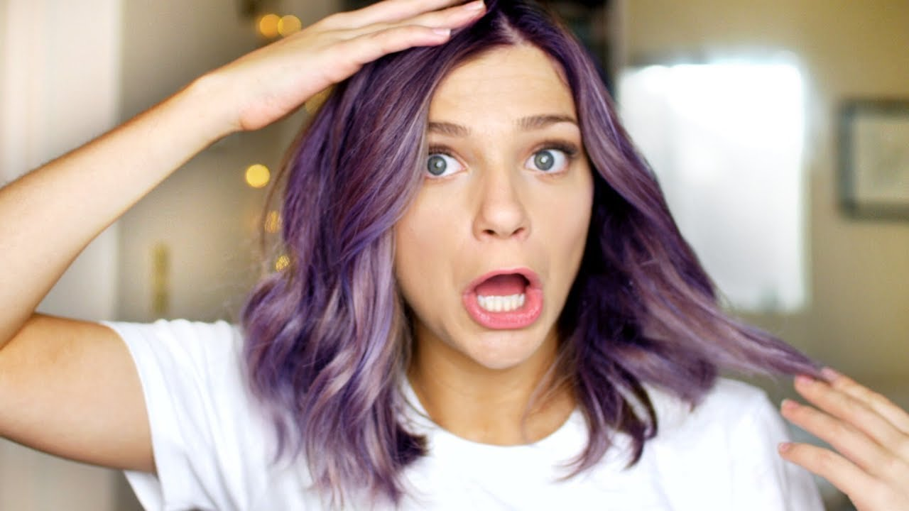 DYING MY HAIR PURPLE - YouTube - photo#23