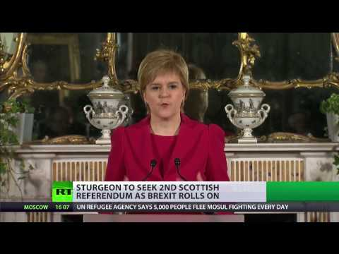 #IndyRef2: Sturgeon to seek second Scottish independence referendum over Brexit
