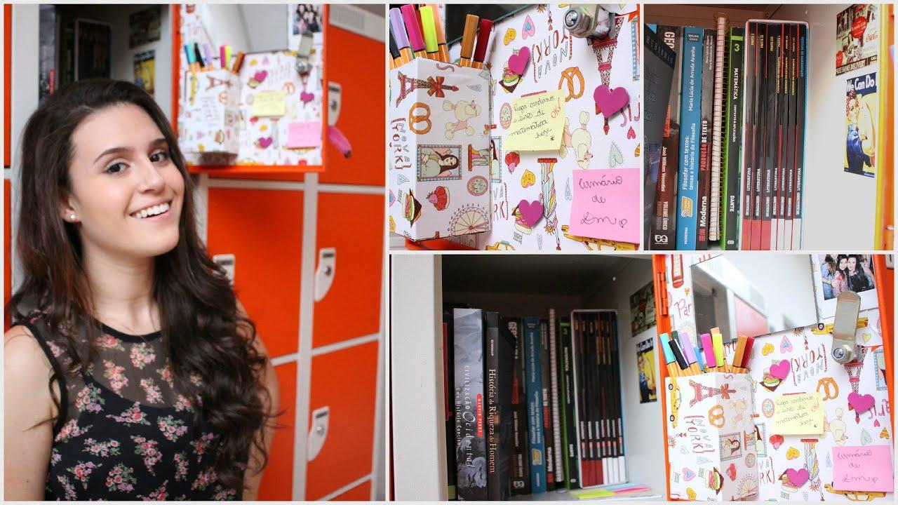 Aparador Bar Luxo Jb Bechara Branco ~ DIY& Organizaç u00e3o para o armário escolar! YouTube