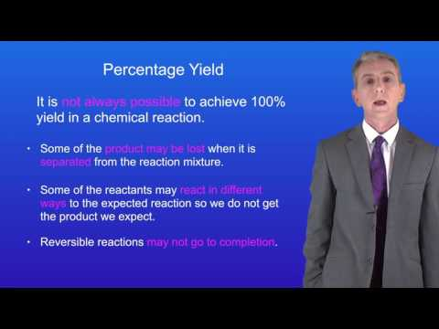 GCSE Chemistry (9-1) Calculating Percentage Yield 1