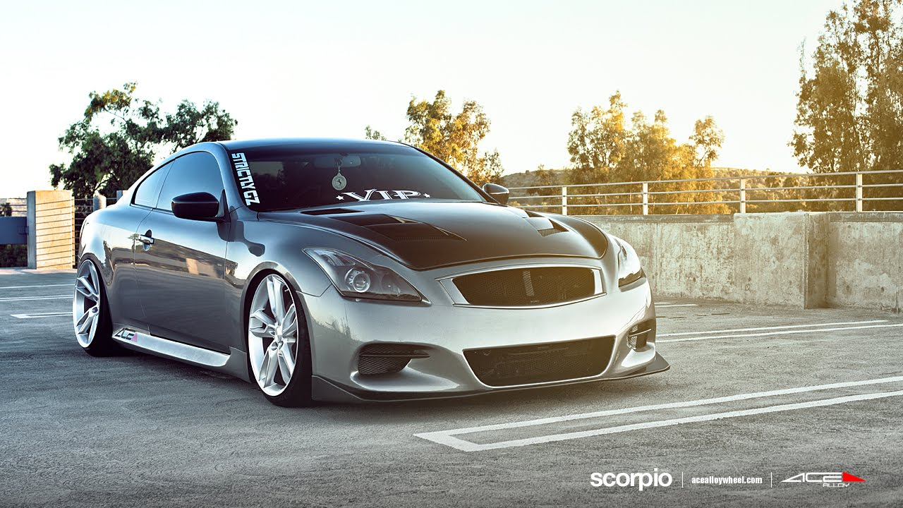 Infiniti G37 Coupe On 20 Quot Ace Scorpio Wheels Rims Youtube