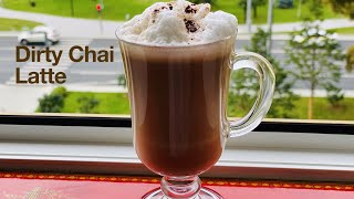 Dirty Chai Latte Re¢ipe   (Naughty Chai Latte) Easy Way to Make a Perfect Dirty Chai Latte at Home  
