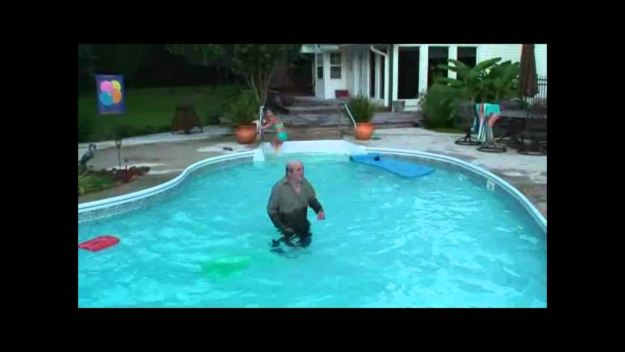Uncle floville pee 39 s in the pool youtube for Pool chemical show urine