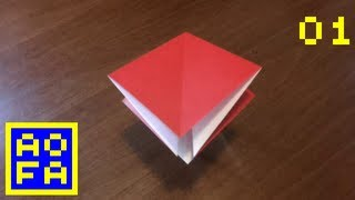 Origami Preliminary Base - How To Make An Origami Preliminary Base ...for All (01) [remake]