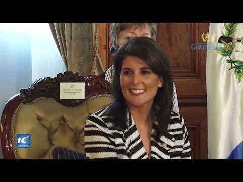 Visita de Nikky Haley al presidente Jimmy Morales de Guatemala