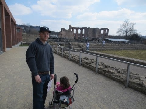 VISITING THE ROMAN BATHS IN TRIER, GERMANY - April 7, 2013 - usaaffamily vlog
