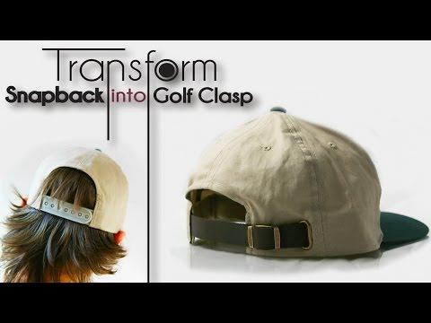 DIY Transformation | Turn Snapback into Golf Clasp
