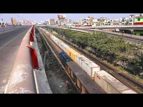 Bangladeshi Freight Train Left Kamlapur Railway Station, Dhaka, Bangladesh (Part 2)