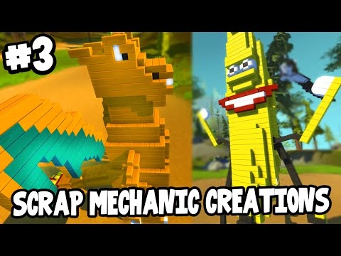 Scrap Mechanic CREATIONS! - WALKING CHARIZARD! [#3] W/AshDubh | Gameplay |