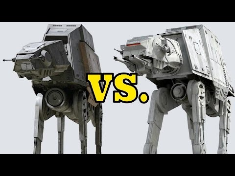 AT-ACT vs. AT-AT - Armor and Weapon Comparison