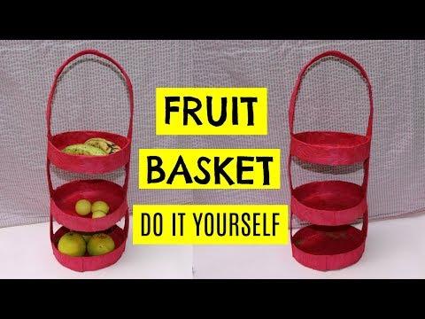 HOW TO MAKE FRUIT BASKET | FRUIT BASKET DIY