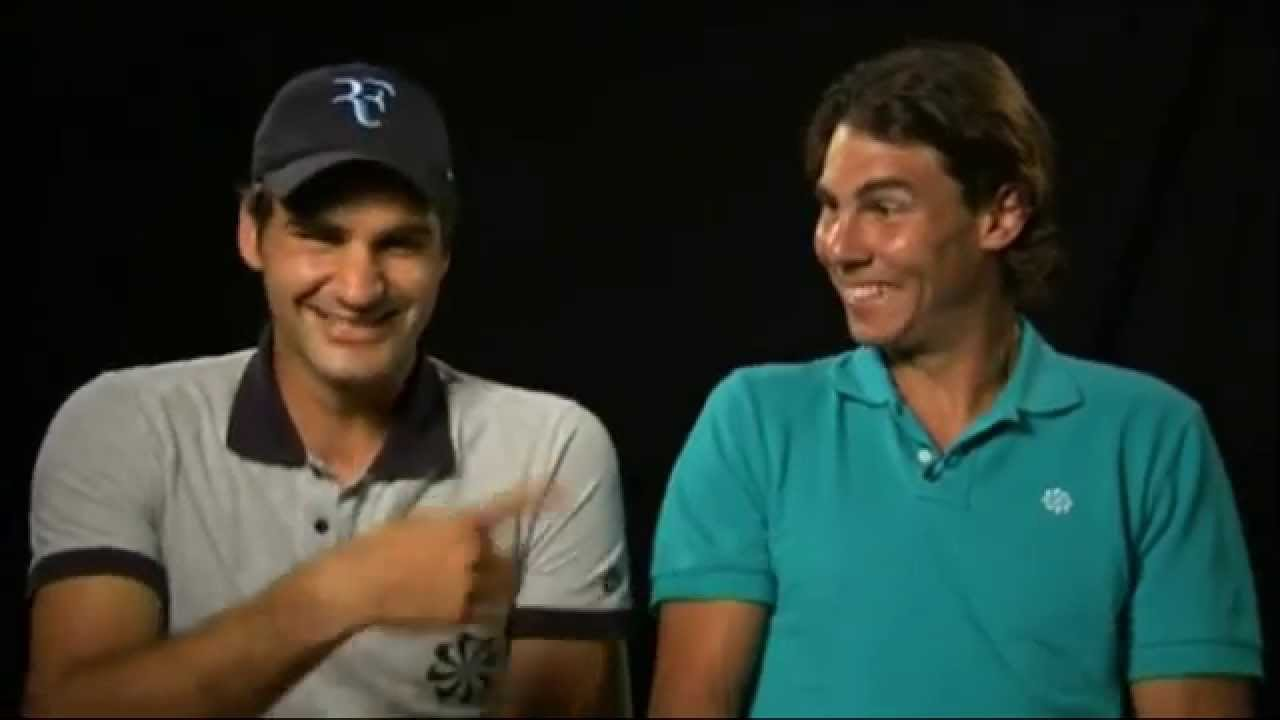 Roger Federer Rafa Nadal Can T Stop Laughing When Filming Charity Match Promo Youtube