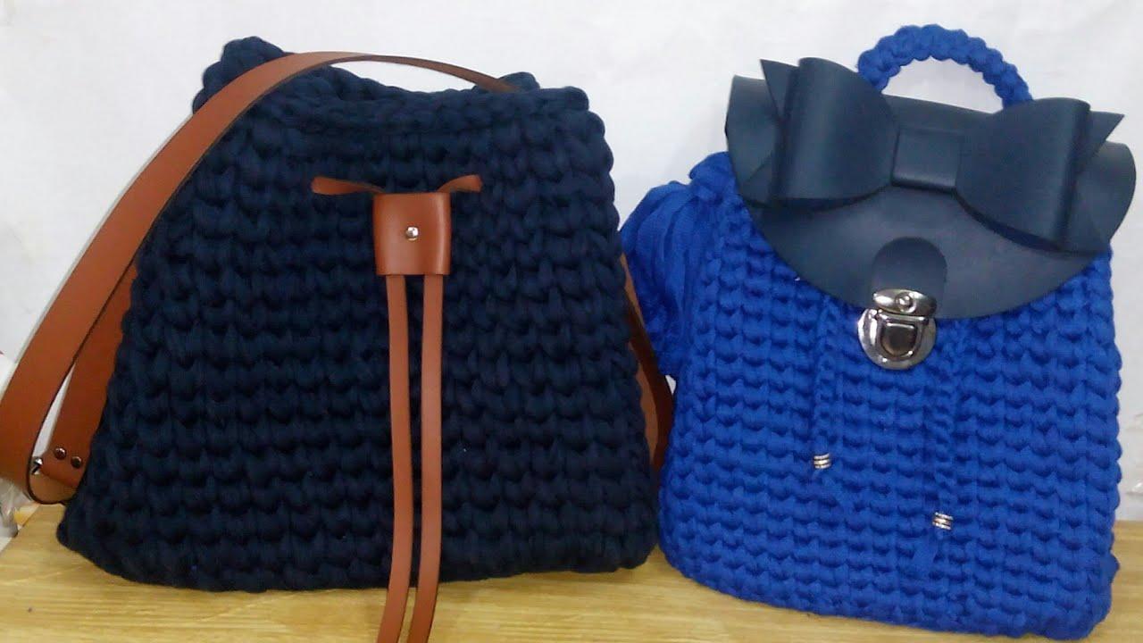 كروشيه شنطه كروس بخيط الكليم Haw To Crochet Back Bag Youtube