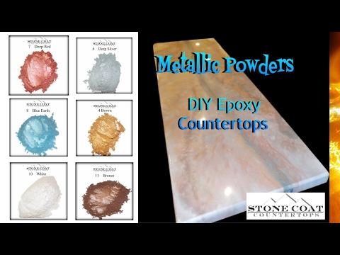 DIY Epoxy Stone Coat Countertops Metallic