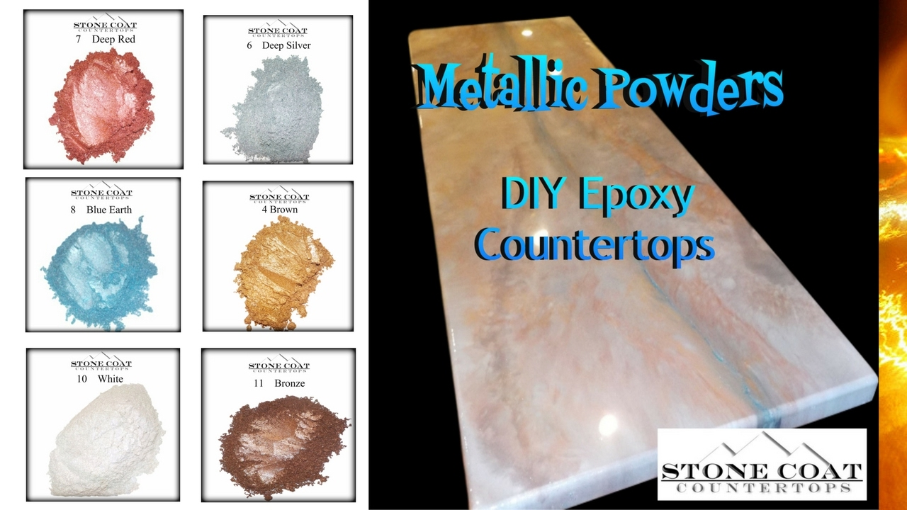 Diy Epoxy Stone Coat Countertops Metallic