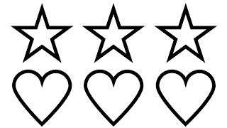 How to Draw Heart And Star Coloring Pages | Heart and Star Coloring Book