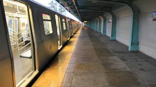 BMT Rockaway Parkway and Manhattan Bound R143 / R160 (L) Train at Wilson Avenue
