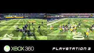 Madden NFL 12 Xbox 360 vs PS3 Comparison Video *HD*
