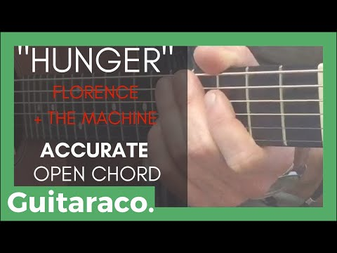 Hunger - Florence + the Machine // Guitar Tutorial (Accurate Open Chords)