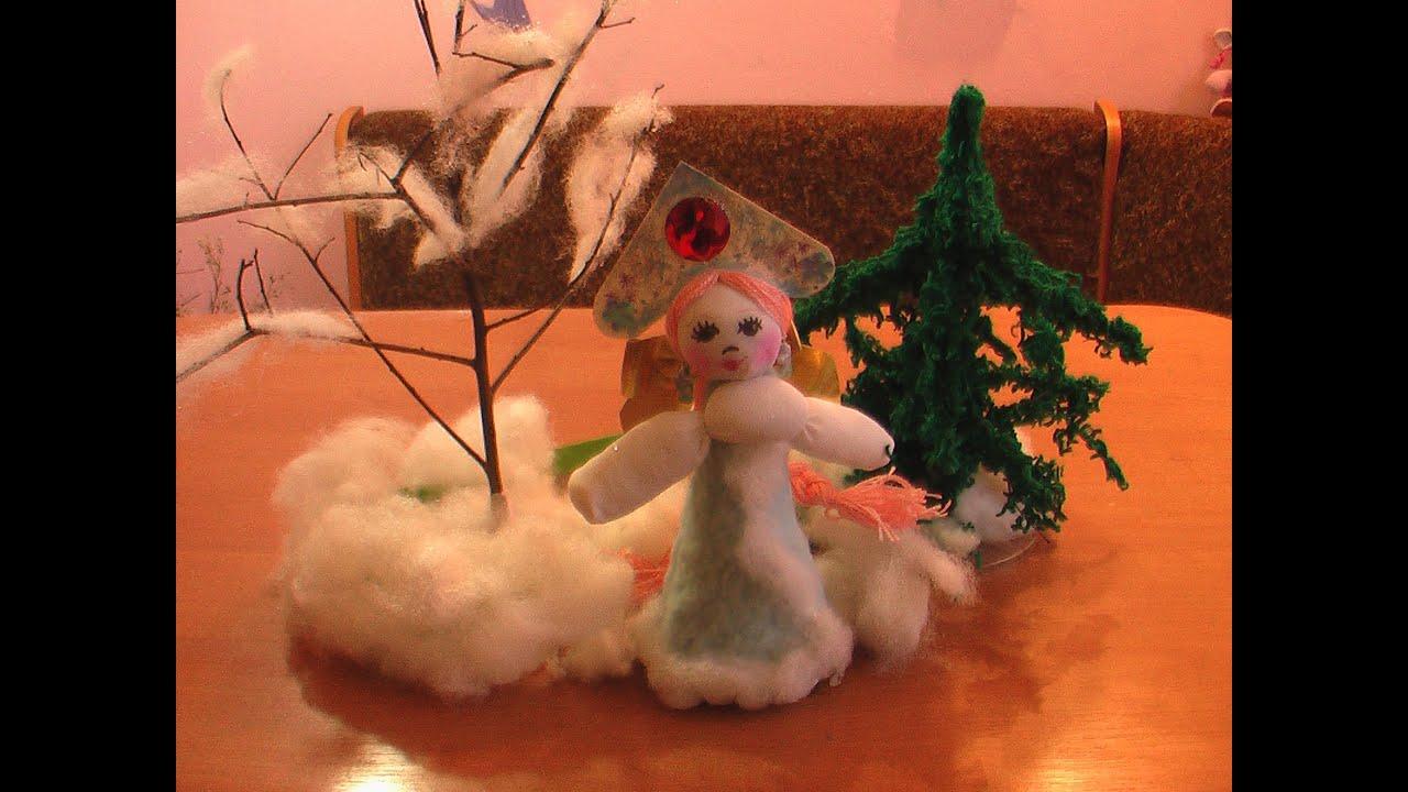 Поделки на новый год снегурочка своими руками