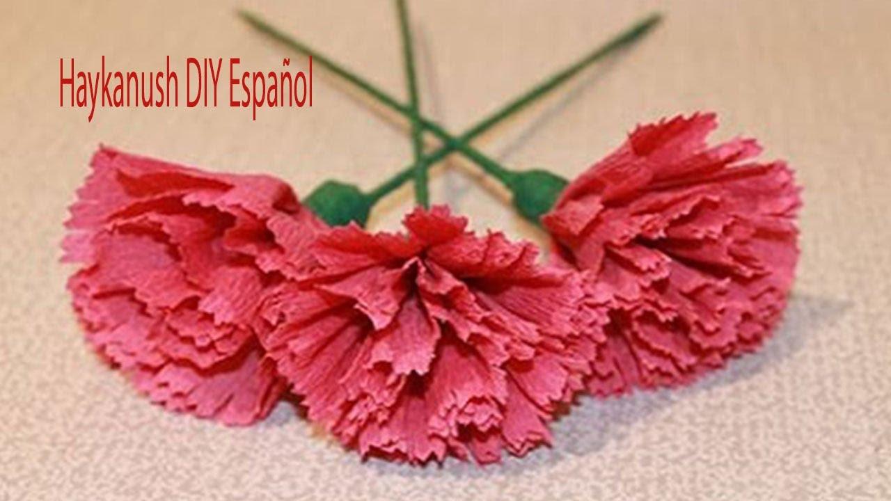 Como hacer flores de papel cr pe f ciles y bonitas para el - Videos de como hacer crepes ...