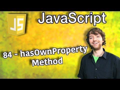 JavaScript Programming Tutorial 84 - hasOwnProperty Method thumbnail