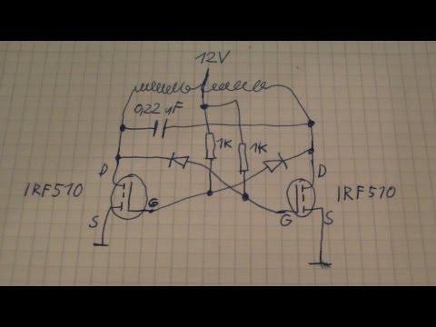 Astabiler Multivibrator Kippschaltung mit Mosfet Transistoren - eflose #167