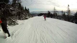 Skiing Ridge Run at Stowe Mountain Resort
