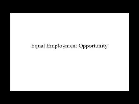 Seminar in HRM:  Equal Employment Opportunity