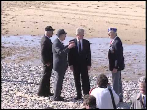 President Clinton at Various Events During the 50th Anniv. of D-Day in France