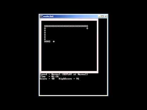 Demo Of SNAKE.BAT Game - Download Link Is In Description.
