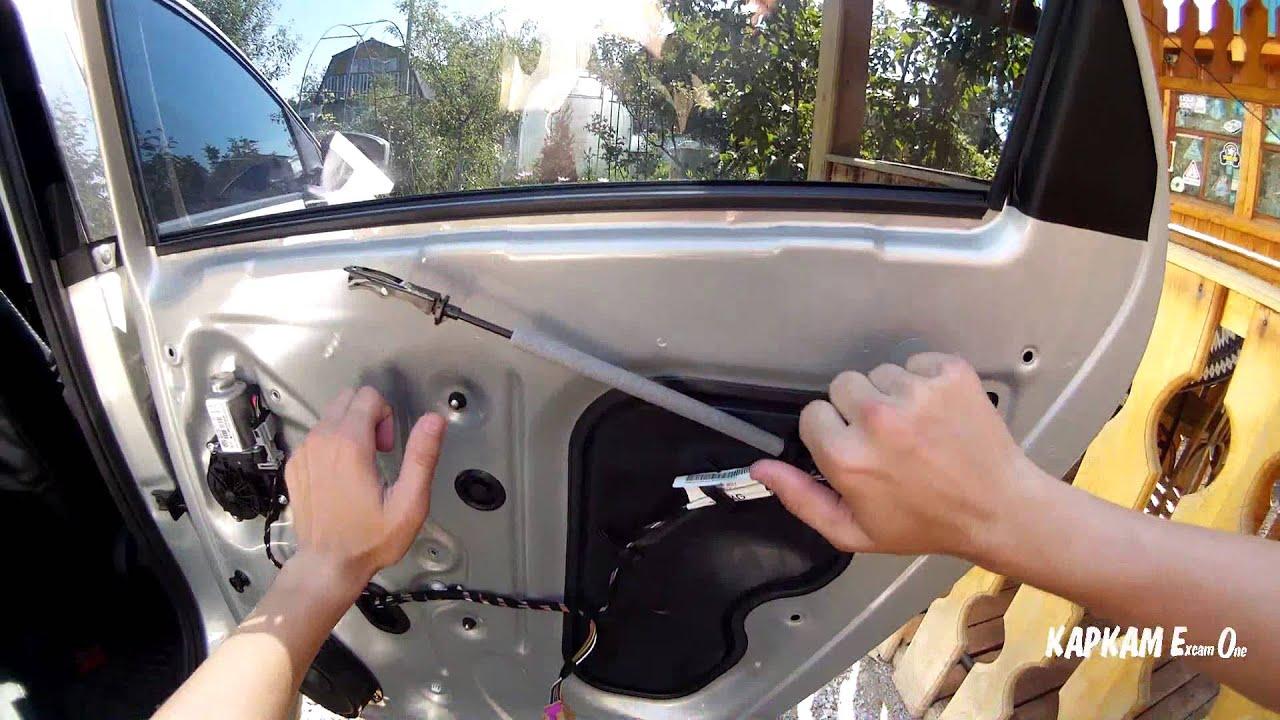 как снять обшивку двери фольксваген поло