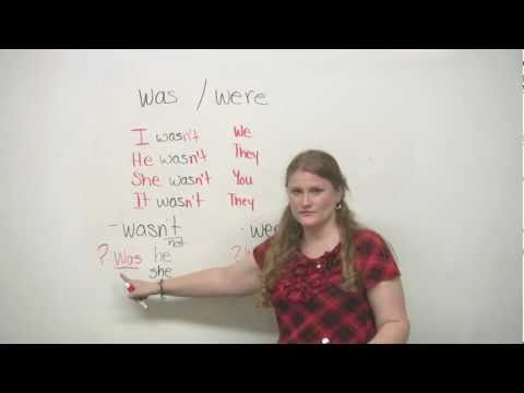 Basic English Grammar  Was and Were