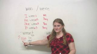 "Basic English Grammar - ""Was"" and ""Were"""