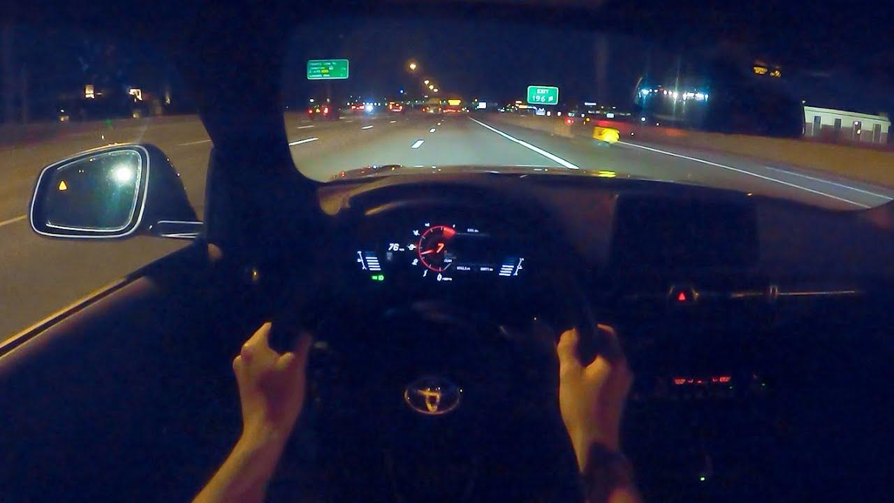 2021 Toyota GR Supra 2.0 - POV Night Drive (Binaural Audio)