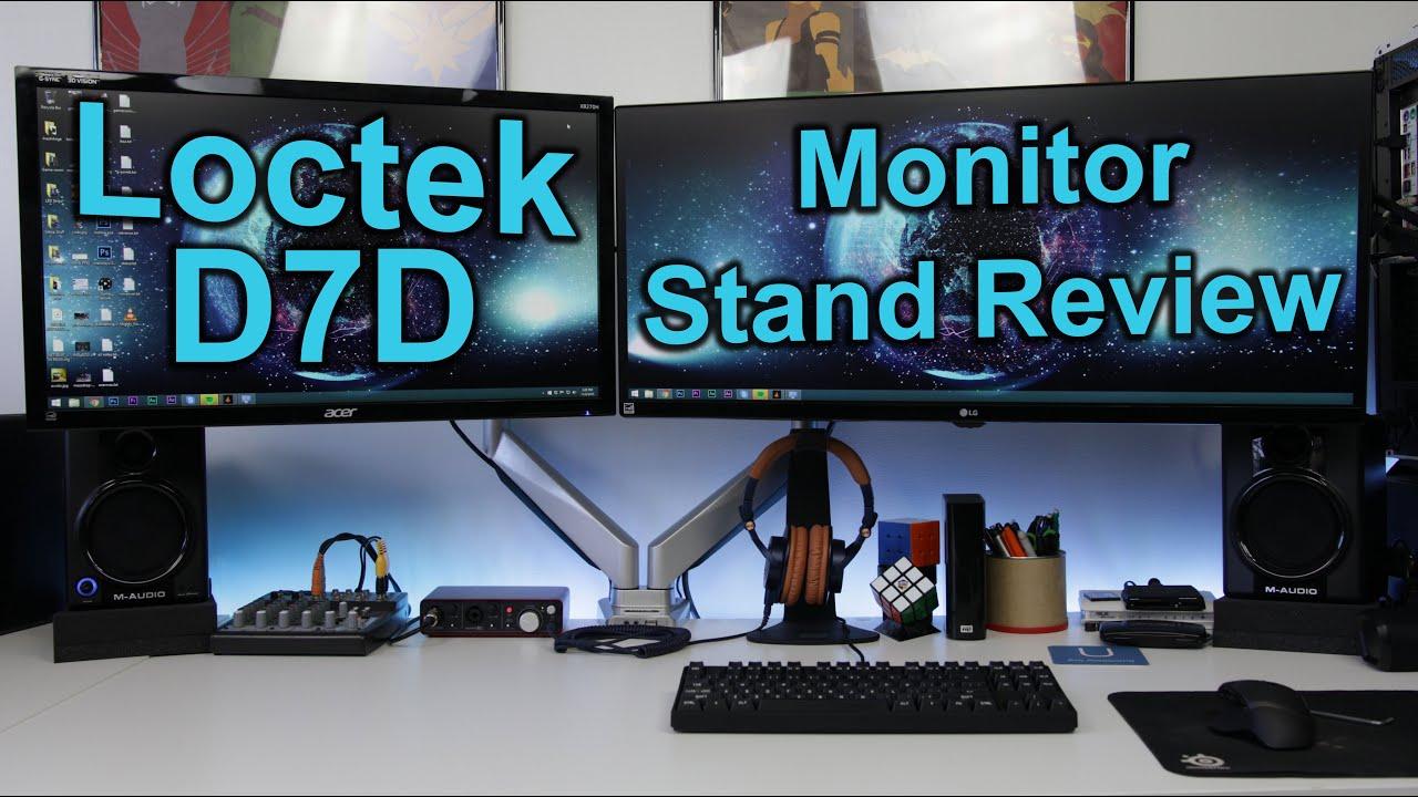 Loctek Ergonomic D7d Dual Monitor Mount Setup Amp Review