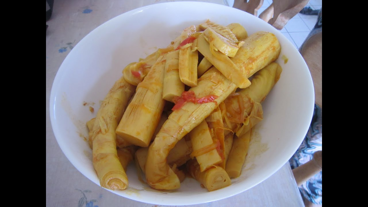 Myanmar food authentic bamboo shoot curry youtube forumfinder Gallery