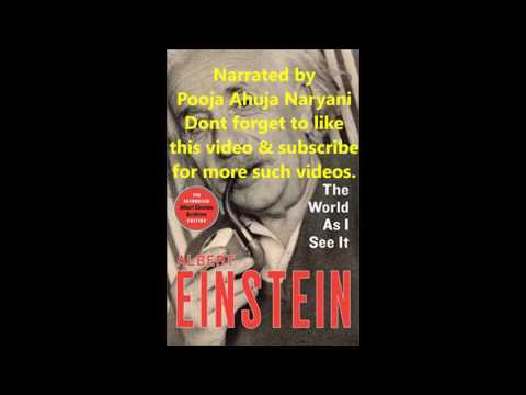 The World As I See It by Albert Einstein Audiobook (Full Version) part 1