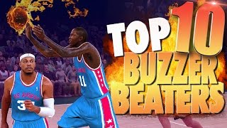 NBA 2K17 Top 10 Clutch Buzzer Beaters, Game Winning & Amazing Shots!